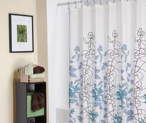 Living Colors Meadow Fabric Shower Curtain Big Lots