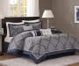 Medina Navy 10 Piece Queen Bed In A Bag on Bed Room View
