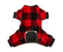 Medium Carol Fleece Red Plaid Pajamas Overhead Shot Silo Image