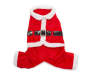 Medium Santa Clause Pet Outfit Overhead Shot Silo Image