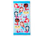 Mermaid Friends Beach Towel 30 Inches by 60 Inches Overhead View Silo Image