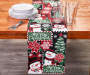 Merry Christmas Chenille Snowman Table Runner 13 Inches by 72 Inches On Table with Props Lifestyle Image