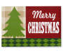 Merry Christmas Tabletop Christmas Plaque Overhead Shot Silo