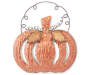 Metal Copper Pumpkin Wall Decor with Curly Handle Silo Image