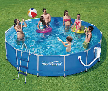 Above ground inflatable pools supplies big lots for Big paddling pool