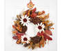 Metal Leaf Wreath Hanger On Door with Wreath Silo Image