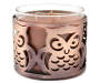 Metal Owl Candle Sleeve with 3-Wick Candle Silo