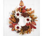 Metal Pumpkin Wreath Hanger On Door with Wreath Silo Image