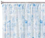 Microfiber Westport Blue Shower Curtain Set Silo Image