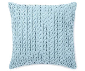 Mineral Blue Braided Decorative Throw Pillow, (18