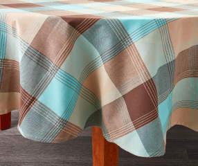 Mineral Plaid Round Tablecloth 70 Quot Big Lots