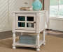 Mirimyn White Chairside End Table lifestyle