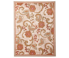 Living Colors Monaco Collection Jacobean Area Rug 5 X 6