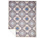 Monaco Collection Medallion Area Rug 6 Feet 7 Inches by 5 Feet Overhead View Corner Folded Silo Image