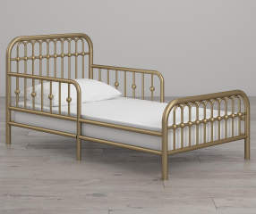 Little Seeds Monarch Hill Ivy Gold Metal Toddler Bed Big