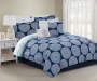 Moni 10-Piece Queen Comforter Set Navy Cover in Tan Room