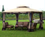 Monterey Gazebo Replacement Canopy 10 Feet by 12 Feet Outdoor Setting Lifestyle Image