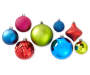 Multi Color Jewel Shatterproof Ornaments 50 Pack Variety Showing Out of Package Silo Image