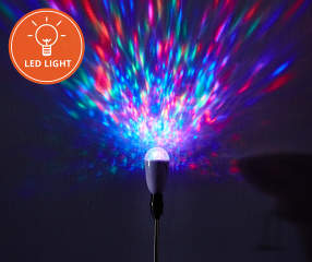 Gemmy Multi Color Kaleidoscope Led Projection Light Bulb