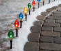 Multi-Color Light Bulb Pathway Markers 10-Pack On Outdoor Path