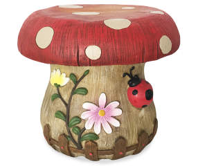 Mushroom Plant Stool Garden Statuary Big Lots