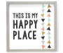 My Happy Place Framed Wood Plaque Overhead View Silo Image