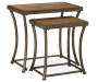 NARTINA 2/CT NESTING END TABLES