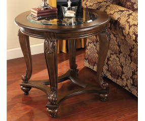 Signature Design By Ashley Norcastle Brown Round End Table