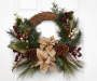 Natural Floral Twig Wreath 20 Inches Overhead on Door Silo Image