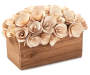 Natural Wooden Flower Bouquet Box silo angled