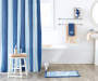 Nautical Stripe Fabric Shower Curtain lifestyle