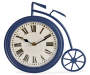 Navy Blue Bicycle Tabletop Clock silo front