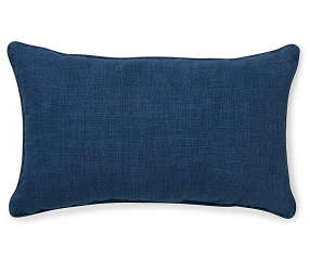 Navy Blue Lumbar Outdoor Throw Pillow 12 Quot X 20 Quot Big Lots