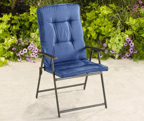 Wilson Amp Fisher Navy Blue Oversized Padded Folding Chair
