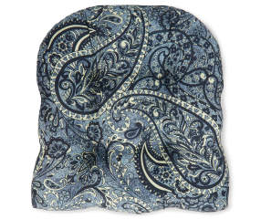 Navy Blue Paisley Outdoor Wicker Chair Cushion Big Lots