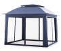 Navy Blue Pop Up Canopy with Netting 11ft x 11ft silo front