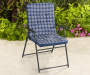 Navy Blue Print Padded Folding Chair lifestyle
