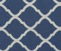 Navy Blue Quatrefoil Armless High Back Settee Bench swatch
