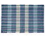 Navy Chunky Stripe Placemat Overhead View Silo Image