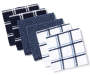 Navy Cotton Dish Cloths 6 Pack Stacked and Fanned Silo Image