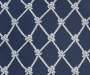 Navy Knot Trellis and Stripe Seat Pads 2 Pack swatch