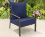 Navy Outdoor Deep Seat and Back Cushions 2 Piece Set lifestyle