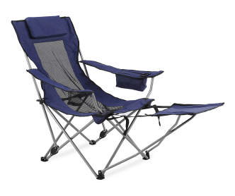 Wilson Amp Fisher Blue Quad Chair With Footrest Big Lots