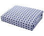 Navy Tonal Geo Floral 4-Piece Full Sheet Set Silo