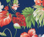 Navy and Red Tropical Paradise and Stripe Seat Pads 2 Pack swatch