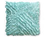 Nile Blue Ruffle Throw Pillow 18 by 18 Silo