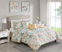 Nina Multi Color Birds King 5 Piece Quilt Set lifestyle bedroom