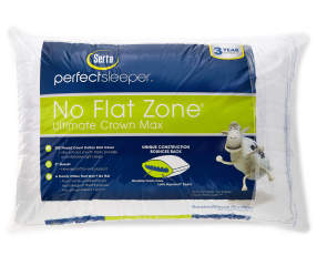Serta Perfect Sleeper No Flat Zone Crown Max Bed Pillow
