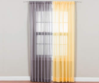 No 918 Gray Crushed Voile Sheer Curtain Panel 84