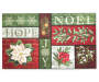 Noel Hope and Joy Rubber Christmas Doormat Overhead Shot Silo Image